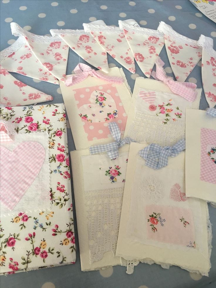 Pretty handmade cards, buntings and notebooks for sale in my shop today from £6.99