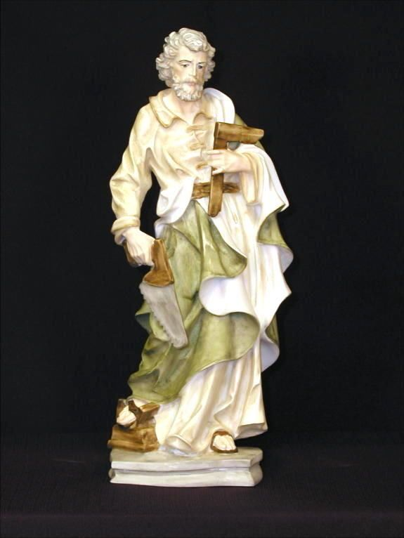 Saint Joseph the Worker Statue Alabaster Made in Italy Jesus Father Religious