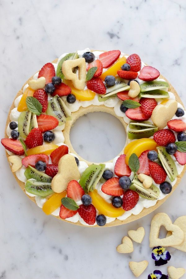 A La Prova del cuoco: Corona di crostata con frutta fresca | Tempodicottura.it | Dolci | Pinterest | Tart, Desserts and Torte