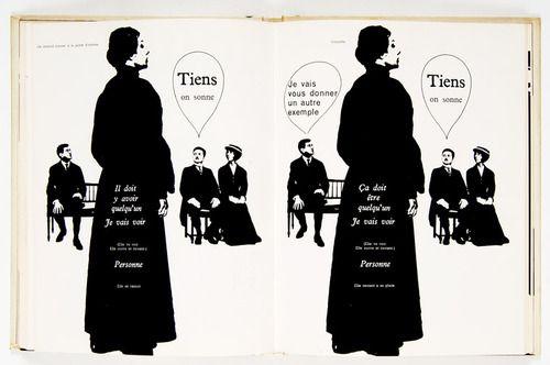 """Massin - Faucheux : typographie expressive pour le livre 'La cantatrice chauve"""" d'Eugène Ionesco."""