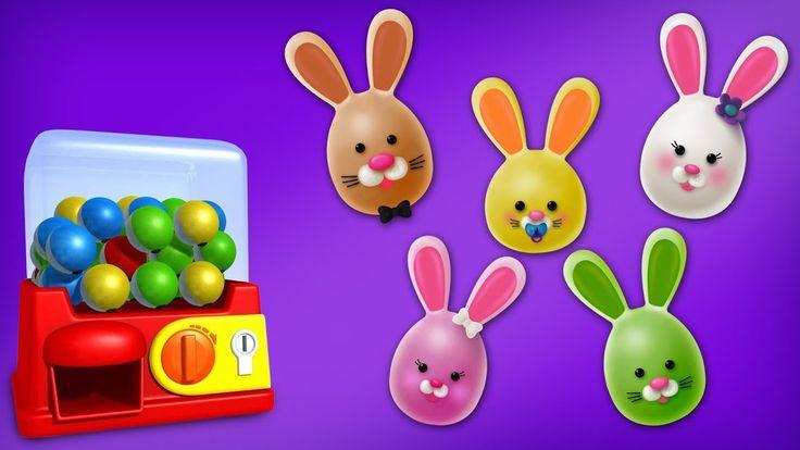 Little Brain Works - Rabbit Cake Pop Finger Family Rhyme | Easter Finger Family Songs