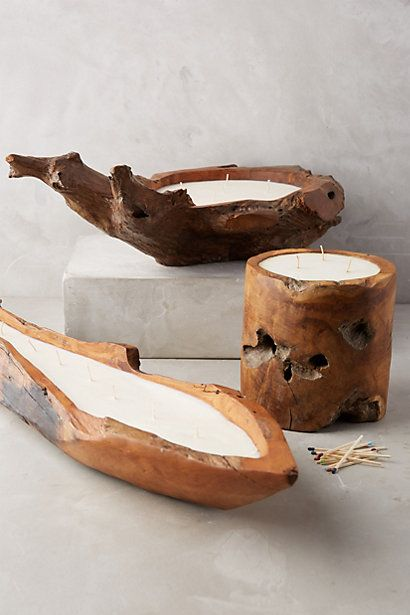 want to make my own!! Teak Volcanica Candle #anthropologie