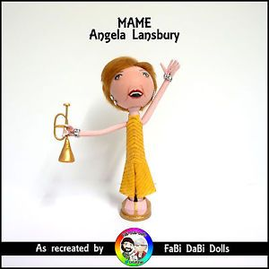 Angela Lansbury MAME peg doll from faBi DaBi Dolls