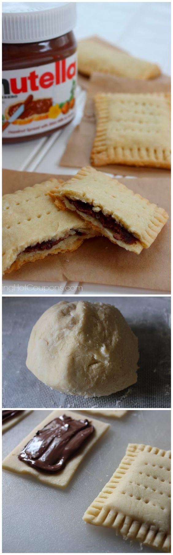 Nutella Pop Tarts - sieht nach einem ziemlich perfekten Frühstück aus! :D