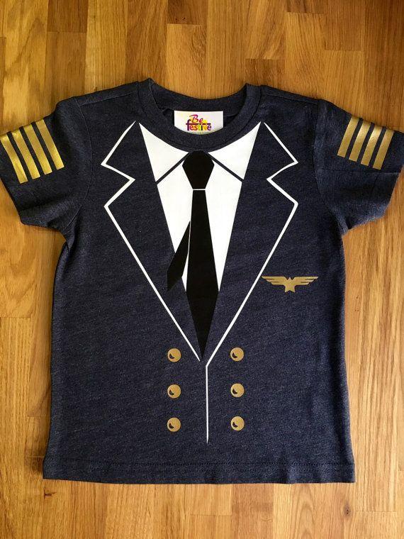 Avion pilote capitaine chemise costume de pilotes par BeFestive