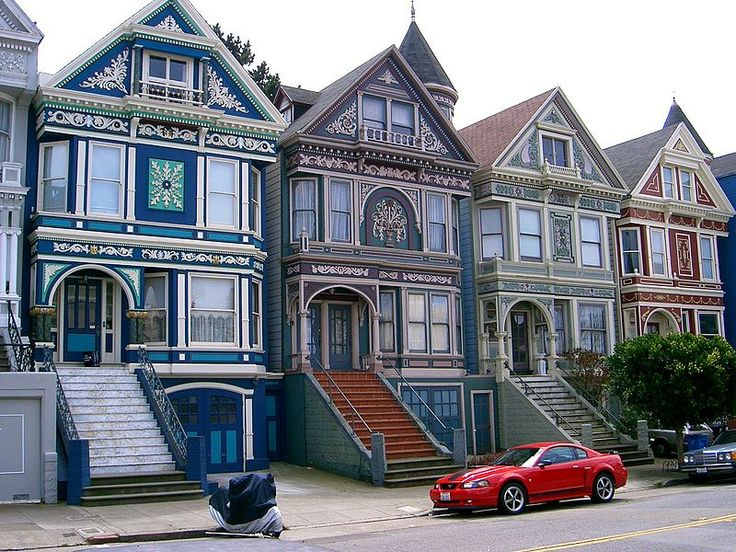 """Painted ladies"" is a term in American architecture used for Victorian and Edwardian houses and buildings painted in three or more colors that embellish or enhance their architectural details. The term was first used for San Francisco Victorian houses by writers Elizabeth Pomada and Michael Larsen in their 1978 book Painted Ladies - San Francisco's Resplendent Victorians."