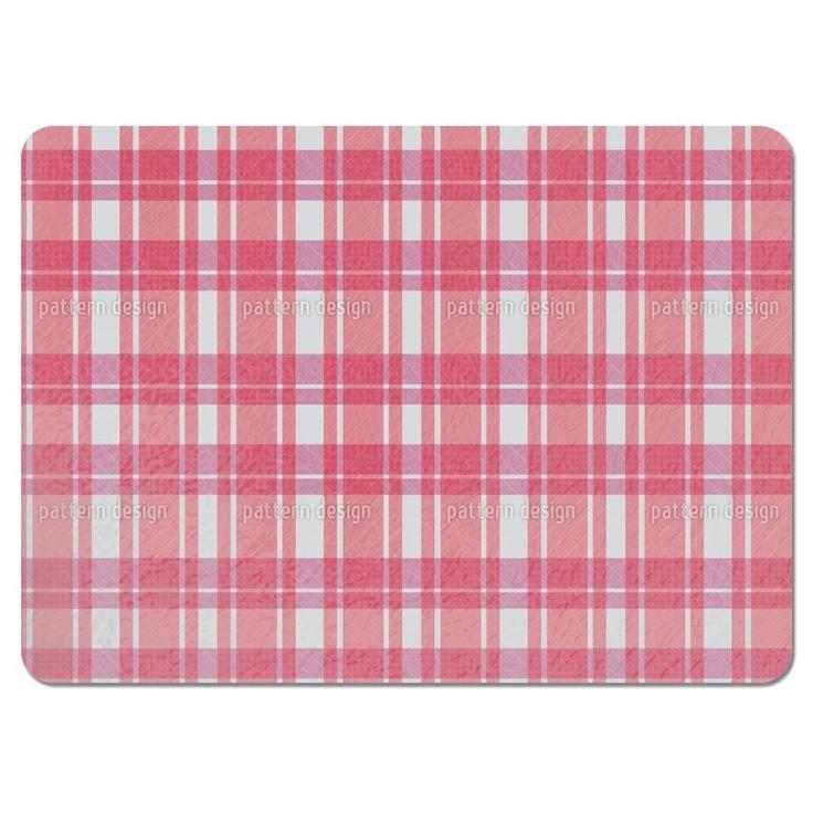 Uneekee Tartan Pink Placemats (Set of 4) (Tartan Pink Placemat) (Polyester)