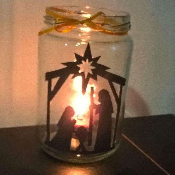 Frasco de vidrio navideño 🎄