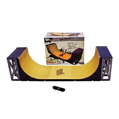 Tech Deck Vert Ramps, Rampa Half Pipe, c/ um exclusivo skate Tech Deck. Long Jump. - R$163.90