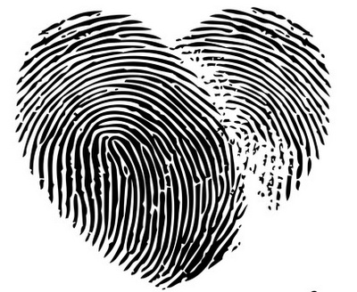 Fingerprint tattoo over my heart.  But in white ink because this one will be mainly for me to see