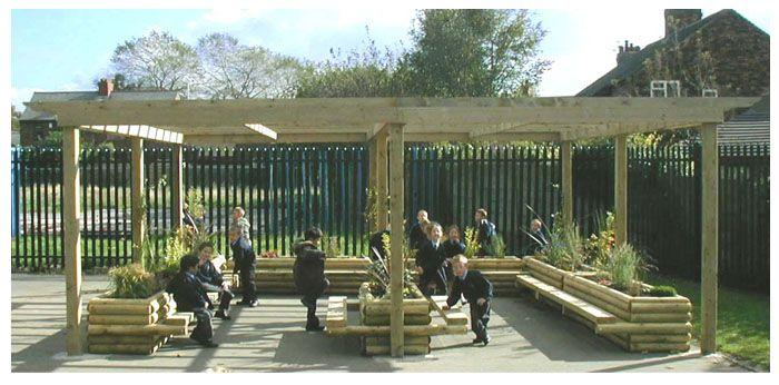 outdoor classroom designs | Hastings School Playground Design: An outdoor classroom