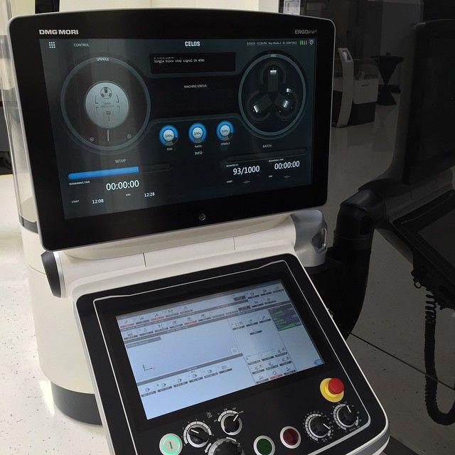 The future of CNC controls. #CELOS #MAPPSV #dmgmori #moriseiki #nhx4000 #instamachinist #cncmachining #machineshop