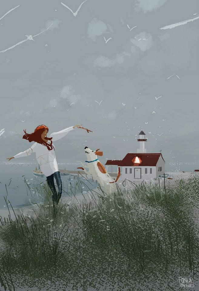 Pascal Campion - Winter Afternoon by the coast