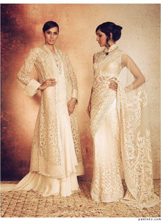 A vision in white - Tarun Tahiliani bridal.