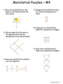 Difficult Matchstick Puzzles #4