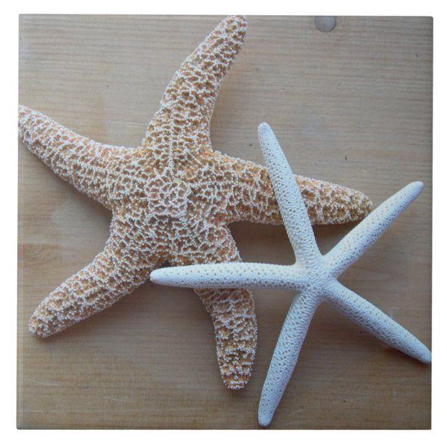 Starfish Beach Home Decorative Square Tile Zazzle Com Diy Home Decor Square Tile Starfish