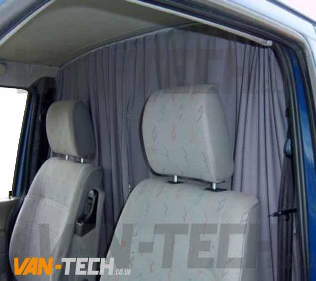 VW T5 Transporter Interior Cab Curtains High Quality Materiel 3 Piece Set