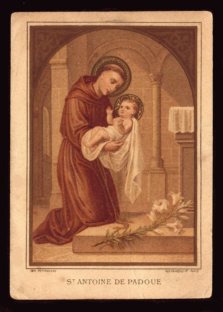 St. Anthony of Padua, June 13. Includes a link to learn more about him.