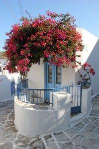 Lefkes village in Paros, Greece / Grekland