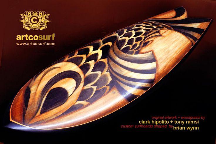 Surfboard art.