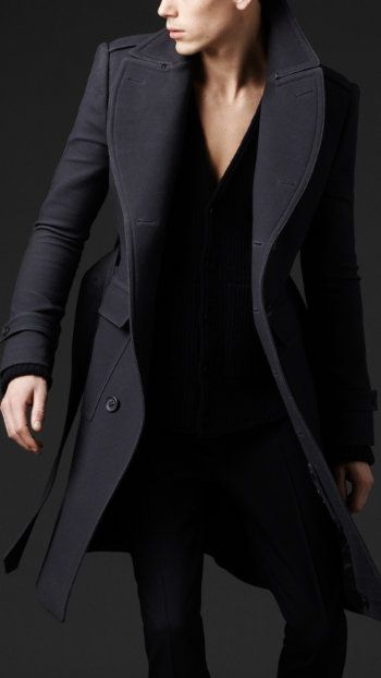 Pressed Wool Top Coat by Burberry Porsum. Daily fashion inspiration, follow http://pinterest.com/pmartinza