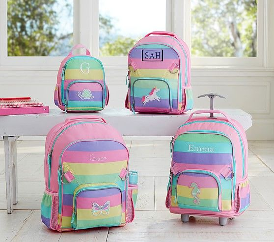 Fairfax Rainbow Multicolor Stripe Backpack Pottery Barn