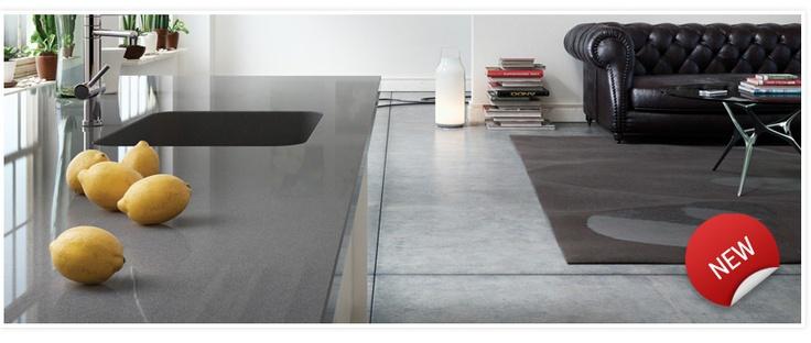 Spring 2011 silestone series cemento kitchen - Silestone showroom ...