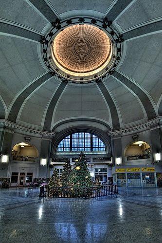 WINNIPEG, Manitoba, Canada - train station interior                                                                                                                                                      More