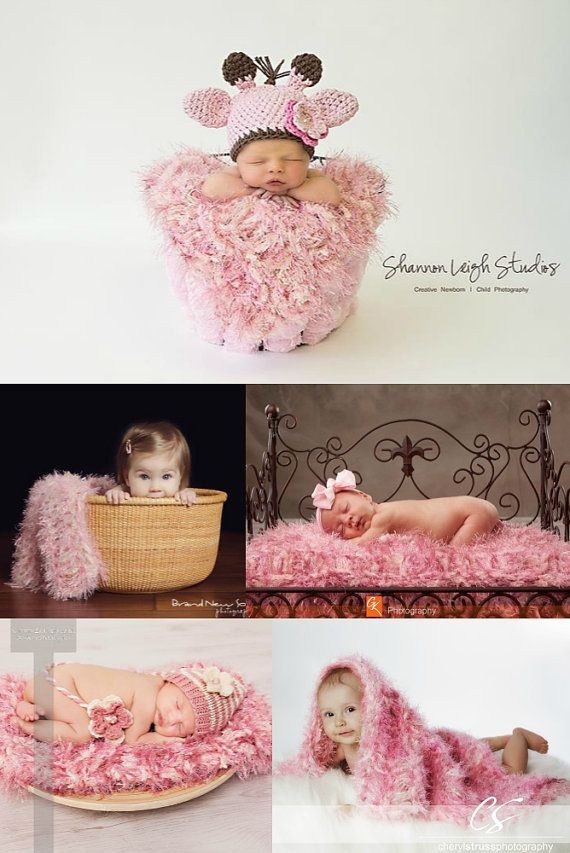 Dusty Rose Photography Prop Baby Blankets Pale Pink Newborn Photo Prop Icing via Etsy