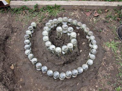 Recycle Reuse Renew Mother Earth Projects: HERB GARDEN IN A ROCK SPIRAL