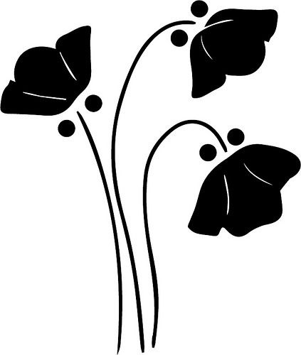FREE SVG flower silhouette 1930's feel....blog posts - svg | The Craft Chop