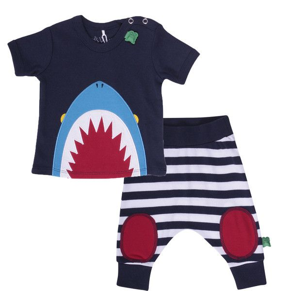 Green Cotton: shark tee and baggy funky pants