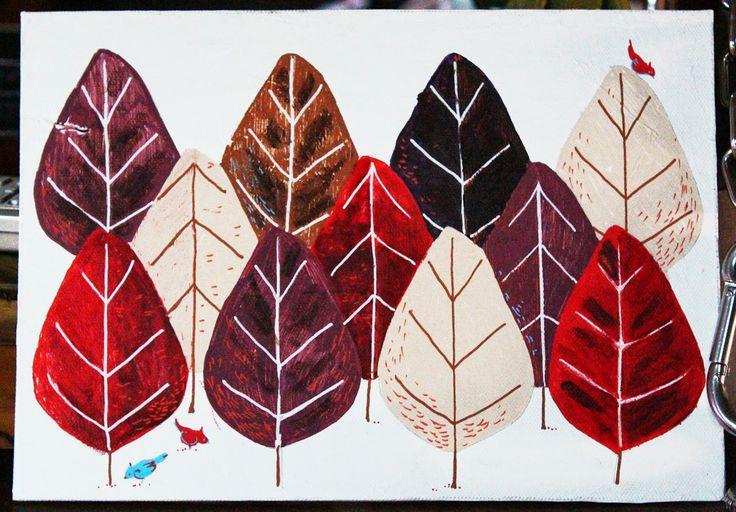Une forêt de feuilles