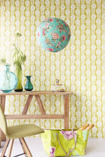 wallpaper from the Flamenco collection by Eijffinger (www.eijffinger.co...) ~ via 101woonideeen
