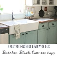Two years after installing butcher block countertops, I'm considering replacing them.