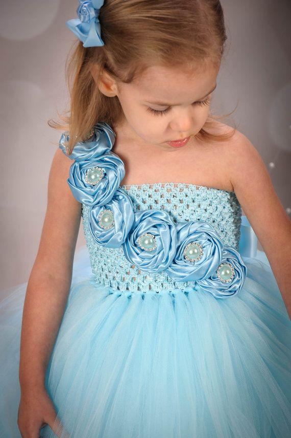 Cinderella Inspired Rhinestone Couture Tutu Dress by krystalhylton