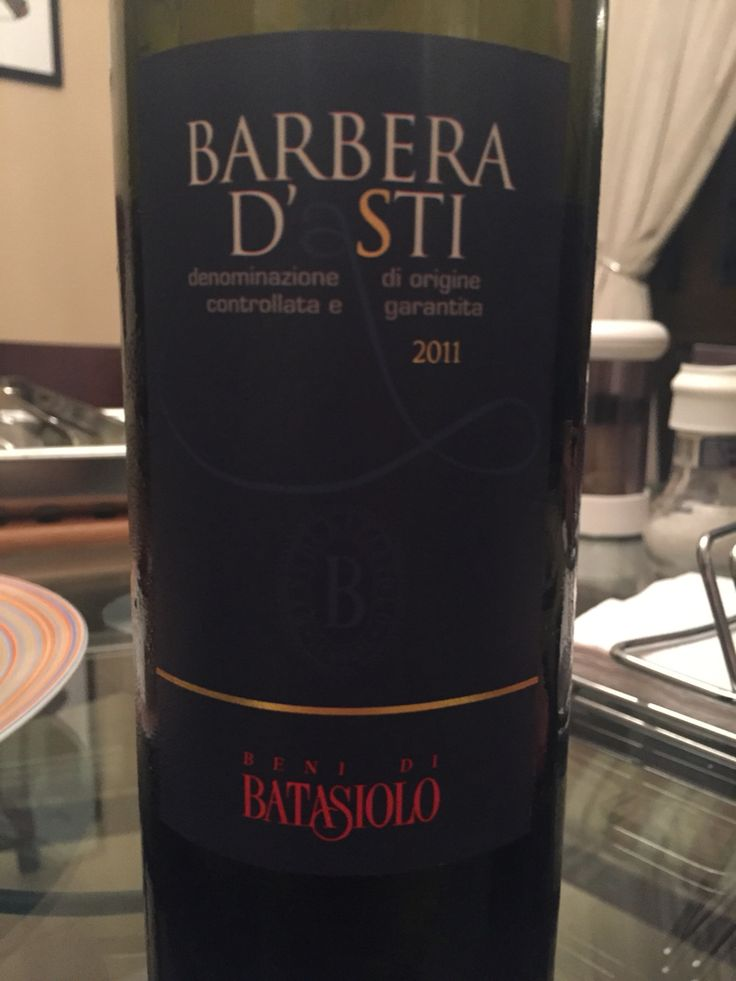 Enjoying a delicious Barbera from The Piedmont!  08.01.2016