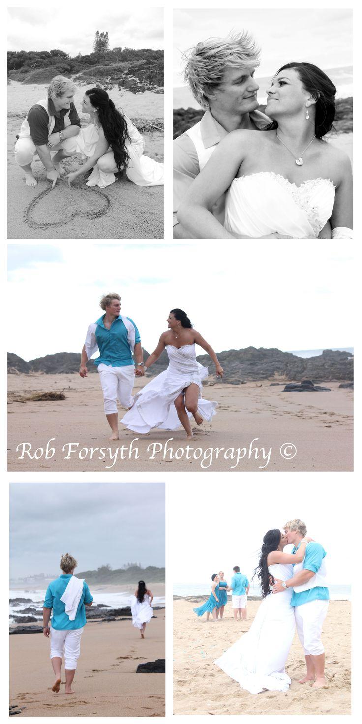 Beach Wedding by Rob Forsyth Photography www.facebook.com/10fourphotography  Wedding Photography Photo Shoot Ideas Blue Wedding Heart South African Wedding Photographer