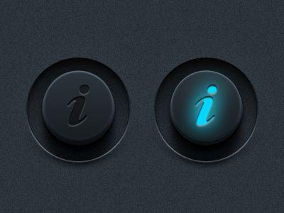 Vector Info Buttons (PSD) by Matt Gentile