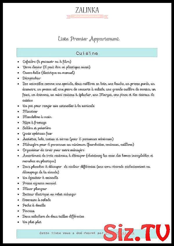 liste premier appartement liste pdf
