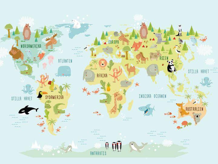Världskarta på svenska, Poster