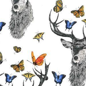 Michael Miller House Designer - Butterfly Garden - Dear Butterfly in White