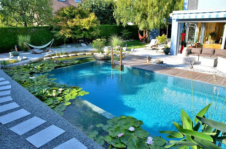 What Are Natural Swimming Pools? Natural swimming pools are pools that use plants and other biofilters instead of chemicals to keep the water clean.