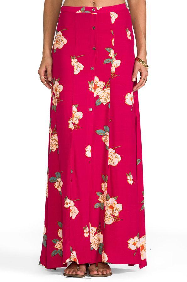 MinkPink Flower Effect Maxi Skirt on shopstyle.com