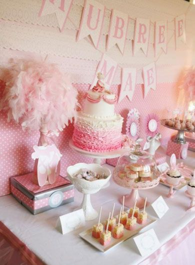 Click Pic for 28 Baby Shower Ideas for Girls - Pink Ballerina Theme | Baby Shower Themes for Girls