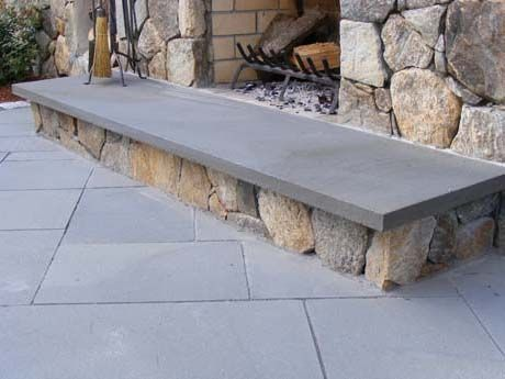 thermal edge bluestone hearth interior granite and