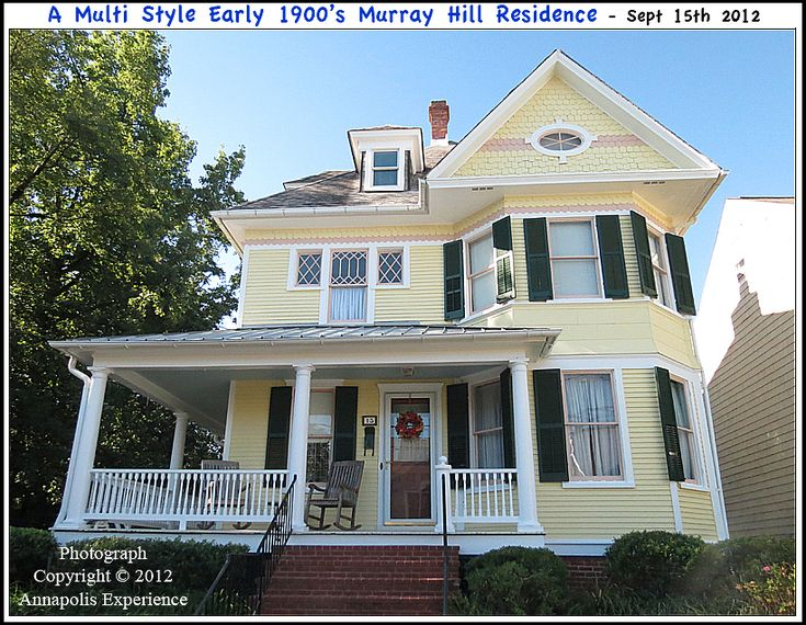 Picture Of An Craftsman Style Colonial Revival Victorian Romantic 1900's Residence On Murray Hill In Annapolis Maryland September 15th 2012