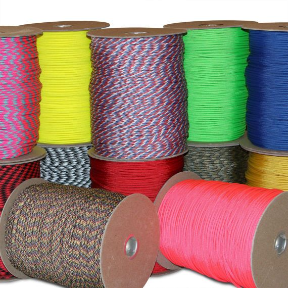 1000 ft Spool of Wholesale 550 Paracord Type III Mil-Spec 7