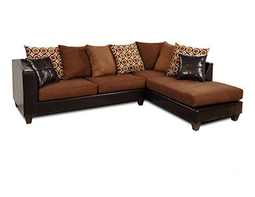Chelsea Home Furniture Ashley 2Piece Sectional Upholstered In Denver  MochaVictory ChocolateSan Francisco Kiwi * Be Sure