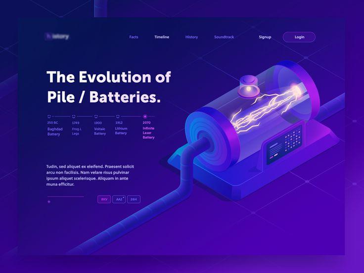 The infinite Battery ( in progress ) by Walid Beno - Dribbble